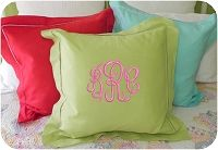 Large Solid Hemstitched Pillow Sham | FREE monograms | FREE shipping | The Preppy Pair