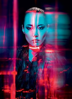Rinko Kikuchi by Tim Richardson for V Magazine. Neon Photography, Portrait Photography, Fashion Photography, Photography Lighting, Photography Magazine, Photography Ideas, Lifestyle Photography, Editorial Photography, Dramatic Photography