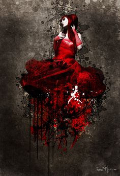 Blood Dress Blood's dress by murciano Artist Painting, Light Painting, Murciano Art, Patrice Murciano, Gothic People, Gothic Images, New Dragon, Alex Colville, Henri Rousseau