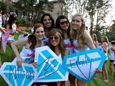 Can't get enough of those diamond door decs. This one is from Alpha Chi-UCLA!