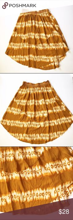 NWT H&M skirt Stretchy waist. Beautiful goldenrod colored tye-dye style hi-low skirt. H&M Skirts High Low