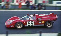 sport - 1970 Nino Vacarella in Ferrari Spyder at Nürburgring. Ferrari Daytona, Ferrari Ff, Ferrari Racing, Lamborghini, Sports Car Racing, Road Racing, Sport Cars, Auto Racing, Motor Sport
