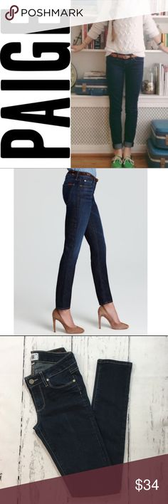 "Paige Peg Skinny Jeans ✔️Skinny Fit ✔️80% Cotton•19% Polyester•1% Elastane ✔️Inseam: 32"" ✔️No Holes, Stains or Damages (See wear on hem of jeans) PAIGE Jeans"