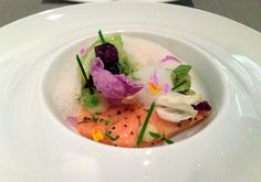 Scottish Salmon, cabbage at Grace in Chicago, IL