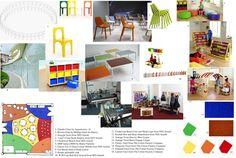 Image result for interior design mood board classrooms Interior Design Colleges, Classroom, Mood, Image, Class Room