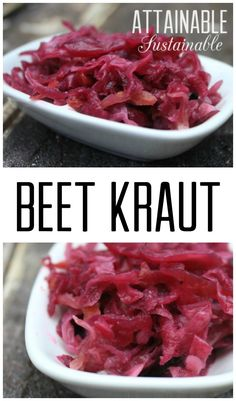 Red cabbage and beets fresh from the garden make a lovely ferment and a nice variation on your standard sauerkraut. This beet kraut is probiotic, too!