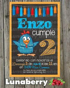 Invitación estilo Pizarrón Pizarra de Cumpleaños Gallina   Etsy