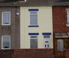 terraced house after wall coatings