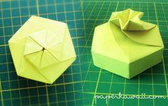 Alternative Lids for Hexagonal Origami Box - Paper Kawaii