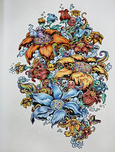 Adult Coloring Books Doodle Invasion Zifflins BookFeat Illustrations By Kerby Rosanes For Awhile