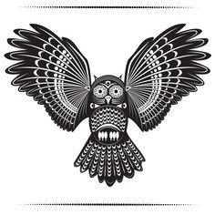 polynesian Owl Tattoo | Tribal Owl Tattoos