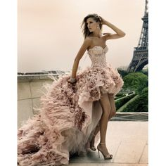 I found 'Pink fluffy rinestoned strapless dress :D' on Wish, check it out!