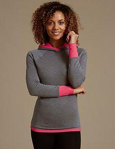d0e88eb3c7 Heatgen™ Thermal Hooded Top Walking Clothes