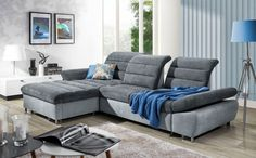 New Ecksofa Schlafsofa MELLO Grau Dunkelgrau Ottomane Links Sofas. offers on top store Sleeper Sectional, Reclining Sectional, Modern Sectional, Chaise Sofa, Upholstered Sofa, Sofa Bed, Living Room Sofa, Living Room Furniture, Furniture Sets