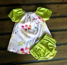 Organic baby clothes / Dress with bloomers  / Organic baby dress / Girls peasant dress  / Girl dress set / Hipster baby clothes by FourLittleButtons on Etsy