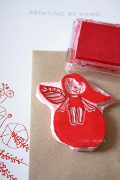 DIY aple girl stamp + more ideas for stamping, fantastic blog!