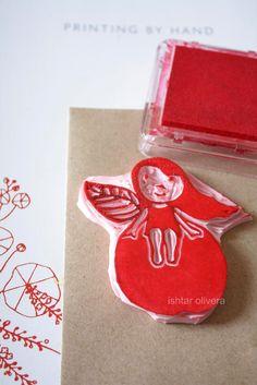 DIY aple girl stamp + more ideas for stamping, fantastic blog!