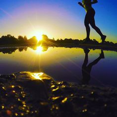 Never give up. #runner running in the golden hour