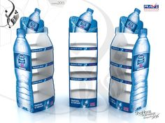 Nestle Pure Life Display Rack / Gondola on Behance Retail Display Shelves, Pos Display, Display Design, Pos Design, Retail Design, Branding Design, Nestle Pure Life, Agua Mineral, Exhibition Stall