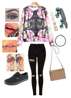 """""""Untitled #32"""" by lets-run-to-the-sea on Polyvore featuring Topshop, Vans, Boohoo, Bellezza and Fiebiger"""