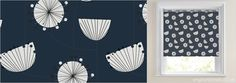 Roller Blinds - Luxury, Made to Measure in the UK Blinds Online, Roller Blinds, Kitsch, Contemporary Style, Valance Curtains, Blue And White, English, Traditional, Retro