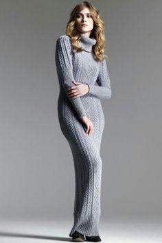 Grey maxi jumper dress