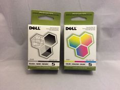 Here's your chance to get a color and black printer ink cartridge for your Dell printer. J5566 and J5567. Genuine ink.  #Dell #DellInk #Undertherooftreasures