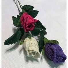 Long Stemmed Rose Crochet Pattern
