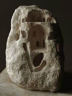 miniature stone sculptures by Matthew Simmonds