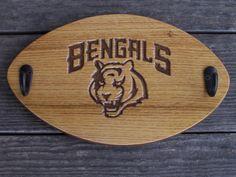 Handcrafted Cincinnati Bengals Wood Coat Hat Rack