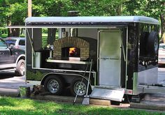 mobile wood fired pizza trailer Cucina 12ft