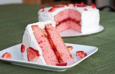 strawberry cake slice hd