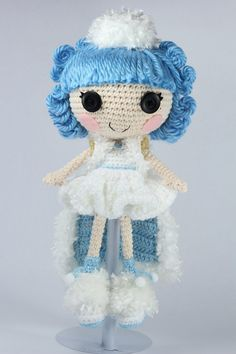 LALALOOPSY Ivory Ice Crystals Amigurumi Doll by Npantz22 on deviantART