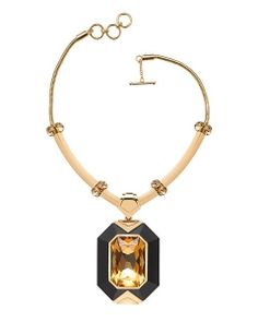 THE ANNÉES FOLLES COLLECTION / Zelda wood and Swarovski crystal deco necklace. Pre-Fall 2013 Collection