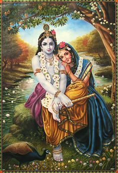 Radha Krishna - The Divine Lover (Reprint on Paper - Unframed))