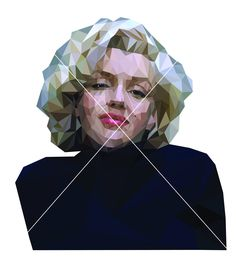 Marilyn Monroe wall art printable poster low poly digital downloads geometric art print movie star portrait instant download by ZigiDesignStudio on Etsy