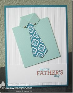 Dress Shirt Card for Father's Day - Northwest Stamper | Jennifer Blomquist, Stampin' Up! Demonstrator