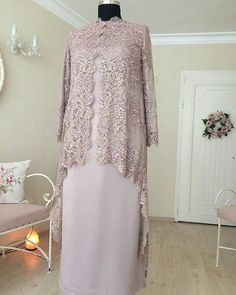 Dress Brukat, Hijab Dress Party, Hijab Style Dress, Batik Dress, Batik Fashion, Abaya Fashion, Muslim Fashion, Fashion Dresses, Kebaya Modern Dress