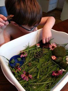 Play Create Explore: Springtime Small World Sensory Play