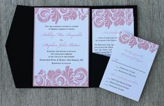 Damask Wedding Invitation Suite by NatalilyDesigns on Etsy