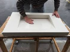 Image result for sink molds for concrete countertops