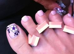 flower toe nail designs - Google Search