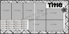 4 X 6 Photo Sketch Blog: 12 x 12 - 110