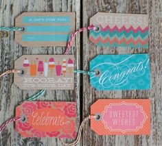 Free Printable Summer Gift Tags from Lia Grifith Christmas Gift Wrapping ideas Fun way to gift wrap gifts and presents with DIY Easy Creative Decoupage Vintage, Free Printable Gift Tags, Free Printables, Party Printables, Homemade Gifts, Diy Gifts, Wrap Gifts, Do It Yourself Quotes, Envelopes