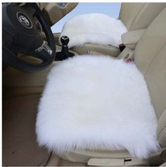 Car Seat buttom Cushions - Pin it :-) Follow us :-)) zcarseatcushion.com is your car seat support Gallery ;) CLICK IMAGE TWICE for Pricing and Info :) SEE A LARGER SELECTION of car seat bottom cushions at http://zcarseatcushions.com/product-category/car-seat-bottom-cushions/ - car, upholster, car accessories, car seat, cushion - 1pair Pure White Genuine Sheepskin Car Cushion Front Driver Seat Covers Sheepskin Car Cushion Kits « Z Car Seat Cushions