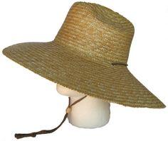 718cb3a9be46b9 Super Wide Brim Lifeguard Hat Straw Beach Sun Summer Surf Safari Gardening  UPF at Amazon Women's · Mens ...