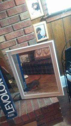 $5 White Square Mirror