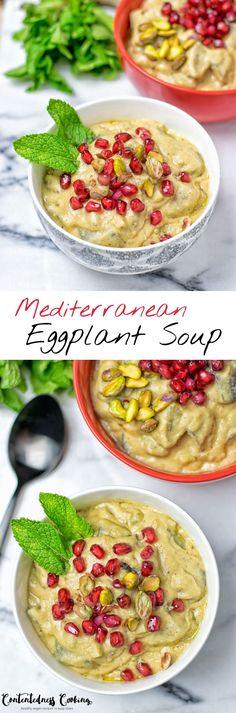 Mediterranean Eggplant Soup | #vegan #glutenfree #contentednesscooking