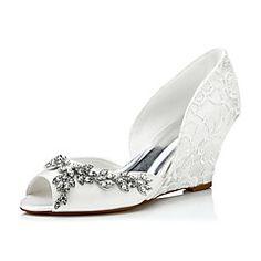 Women's+Sandals+Spring+/+Summer+/+Fall+Wedges+Lace+/+Silk+Wedding+/+Party+&+Evening+/+Dress+–+USD+$+65.77