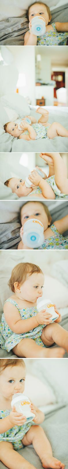 Our friend La Petite Peach shares how she helped her 9 m.o. baby enjoy bottle feeding with LATCH, our bottle designed to ease the transition between breast and bottle. #lovelatch #babybottles
